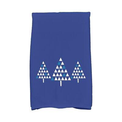 Trio of Trees Hand Towel Color: Blue