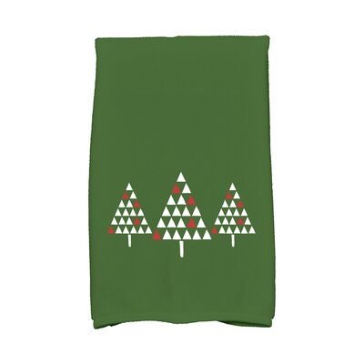 Trio of Trees Hand Towel Color: Green