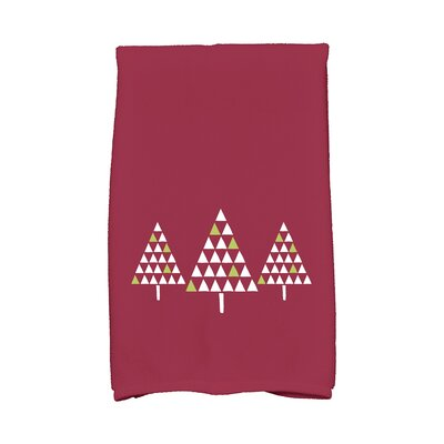Trio of Trees Hand Towel Color: Cranberry