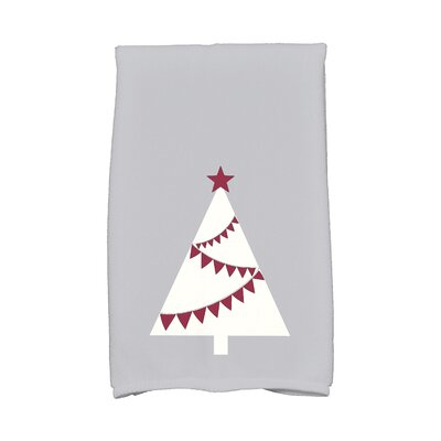 Garland Tree Hand Towel Color: Gray