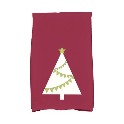 Garland Tree Hand Towel Color: Cranberry