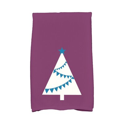 Garland Tree Hand Towel Color: Purple