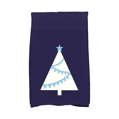 Garland Tree Hand Towel Color: Blue