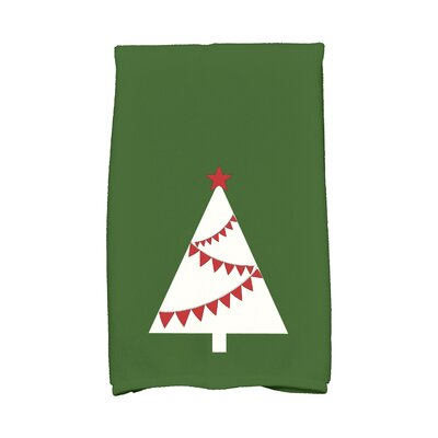 Garland Tree Hand Towel Color: Green