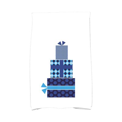 Gift Wrapped Hand Towel Color: Blue