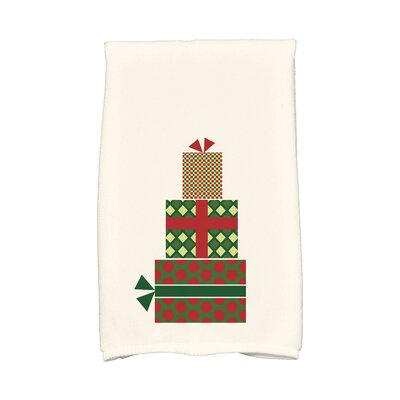 Gift Wrapped Hand Towel Color: Green