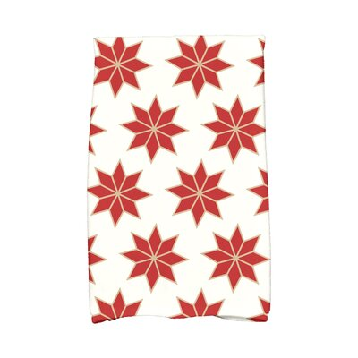 Christmas Stars Vibrant Hand Towel Color: White/Red/Gold