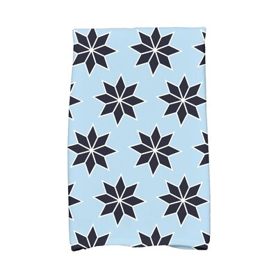 Christmas Stars Vibrant Hand Towel Color: Light Blue/Blue/White