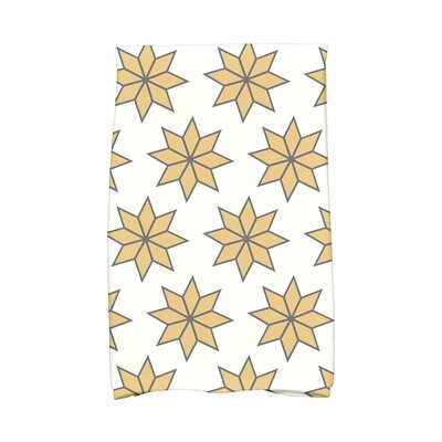 Christmas Stars Vibrant Hand Towel Color: White/Gold/Black