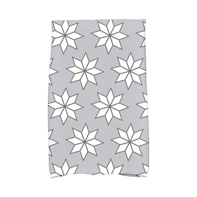 Christmas Stars Vibrant Hand Towel Color: Gray/White/Black