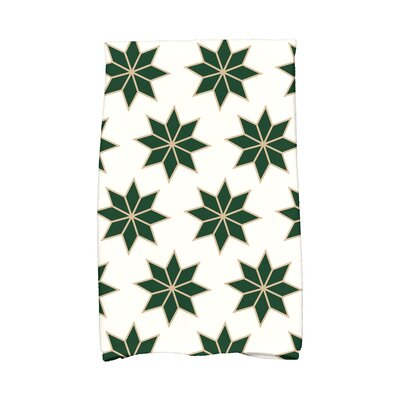 Christmas Stars Vibrant Hand Towel Color: White/Green/Gold