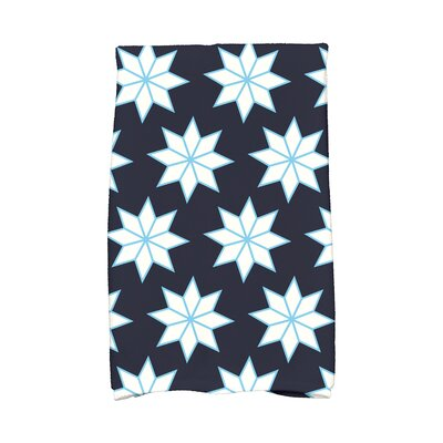 Christmas Stars Vibrant Hand Towel Color: Blue/White/Light Blue