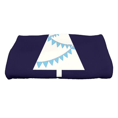Garland Tree Bath Towel Color: Blue