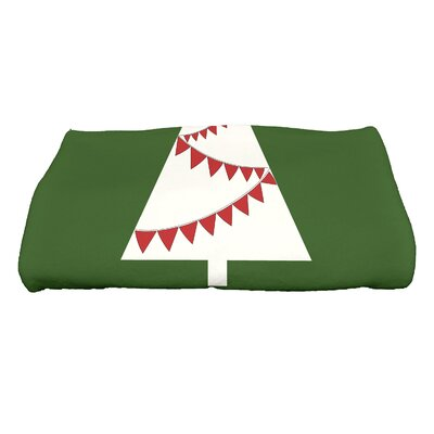 Garland Tree Bath Towel Color: Green