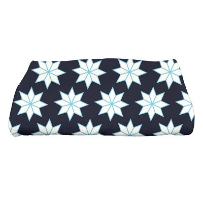 Christmas Stars Bath Towel Color: Blue/White/Light Blue