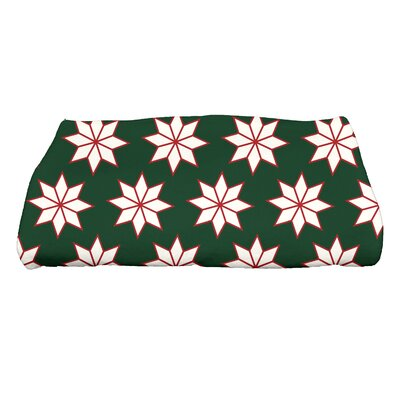 Christmas Stars Bath Towel Color: Green/White/Red