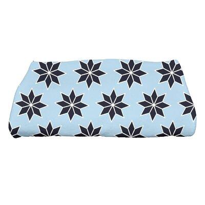 Christmas Stars Bath Towel Color: Light Blue/Dark Blue/White