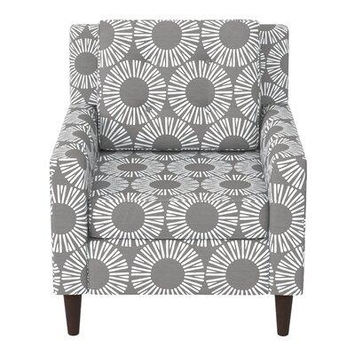 Greer Adobe Armchair Upholstery: Medallion Charcoal OGA