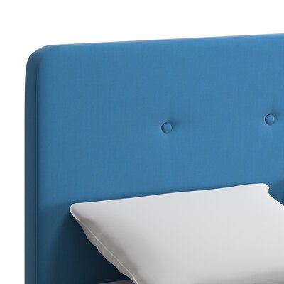 Dedrick Linen Bed Color: Blue, Size: King