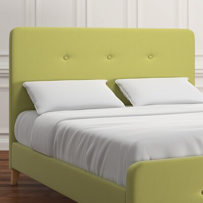 Delray Linen Upholstered Panel Headboard Upholstery: Chartreuse, Size: Queen