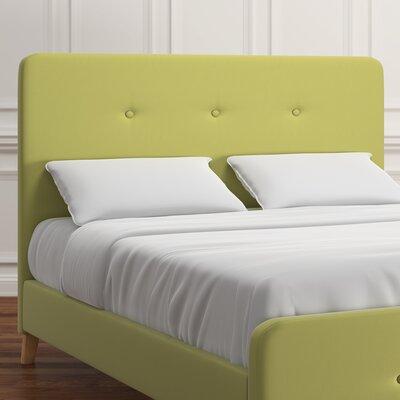 Delray Linen Upholstered Panel Headboard Upholstery: Chartreuse, Size: Full