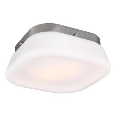 Saratoga 2-Light Flush Mount Finish: Chrome
