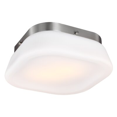 Saratoga 2-Light Flush Mount Finish: Satin Nickel