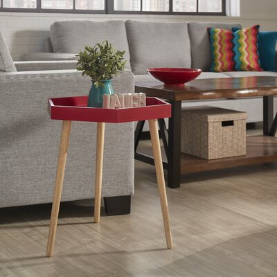 Camden End Table Finish: Samba Red