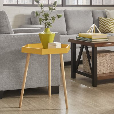 Camden Tray Table Color: Banana Yellow