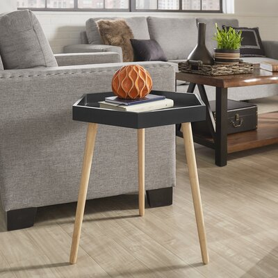 Camden Tray Table Color: Vulcan Black