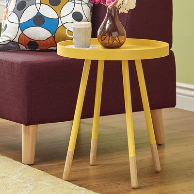 Fortney Tray Table Color: Yellow
