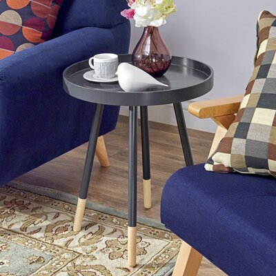 Fortney Tray Table Color: Vulcan Dark Navy Blue