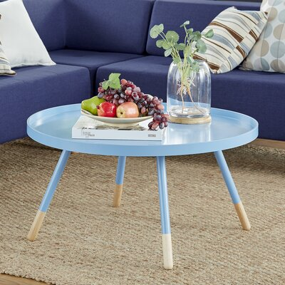 Acevedo Coffee Table with Tray Top Color: Heritage Blue
