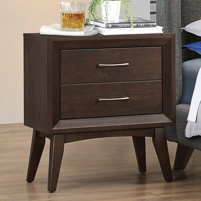 Zeta 2 Drawer Nightstand