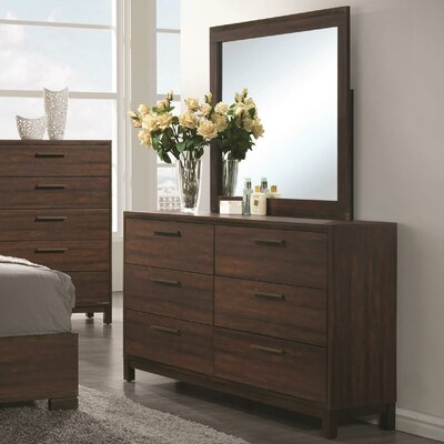 Zech 6 Drawer Dresser with Mirror