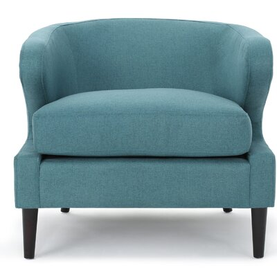 Daum Barrel Chair Upholstery: Teal
