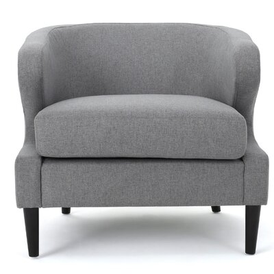 Daum Barrel Chair Upholstery: Gray