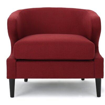 Daum Barrel Chair Upholstery: Deep Red