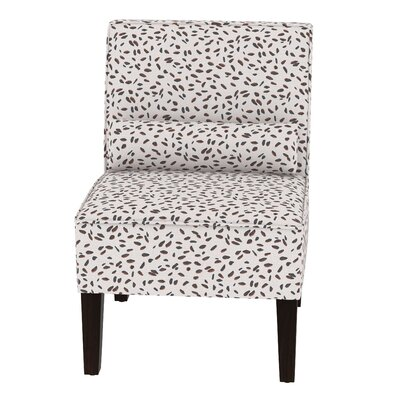 Thurston Slipper Chair Upholstery: Neo Leo Cream Tan Black OGA