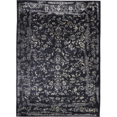 Regina Black & Ivory Rug Rug Size: Rectangle 53 x 78