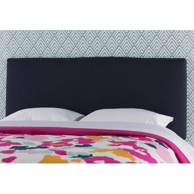 Aponte Upholstered Panel Headboard Size: Twin, Upholstery: Navy