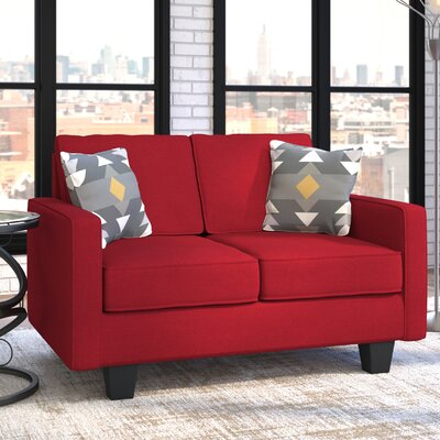 Serta Upholstery Liadan Loveseat Upholstery: Graham Red/Graffiti Nightlight