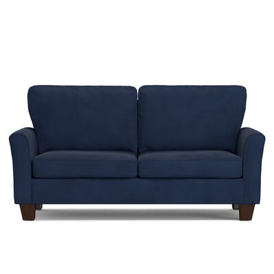 Asberry Compact Sofa Upholstery Color: Navy Blue Velvet
