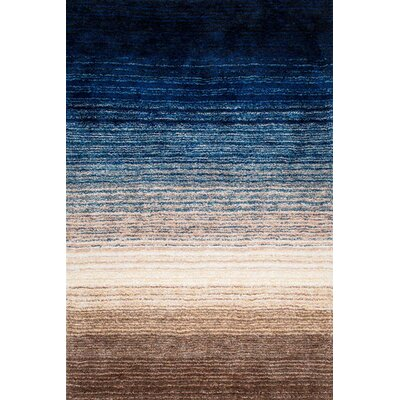 Camden Hand-Tufted Brown/Navy Area Rug Rug Size: Rectangle 9' x 12'