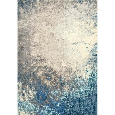 Dealba Blue/Gray Area Rug Rug Size: 53 x 77