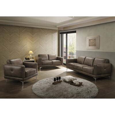 Madigan Leather Configurable Living Room Set