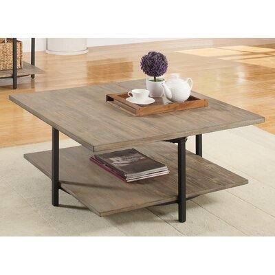 Deaton Square Coffee Table with Magazine Rack