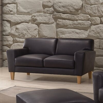 Debusk Leather Loveseat
