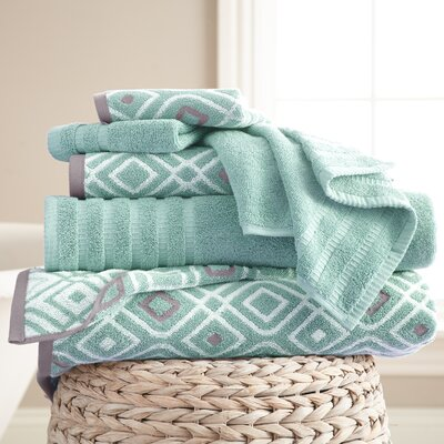 Adult 6 Piece Towel Set Color: Aqua