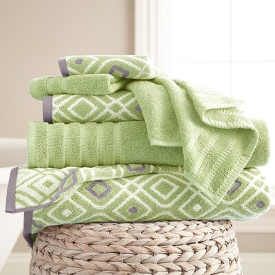 Adult 6 Piece Towel Set Color: Sage Green